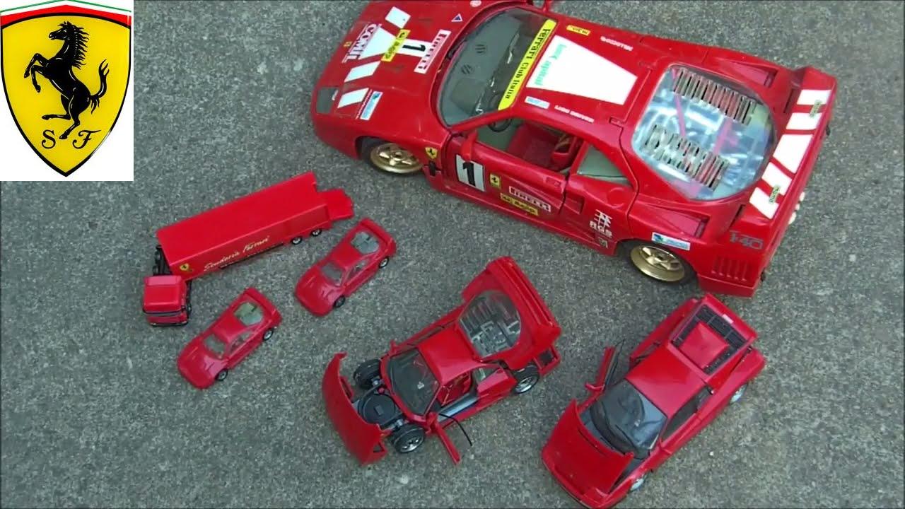 Ferrari Toy Cars Big And Small F40 Testrasossa F1 Truck