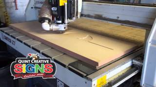 3d Carved Wood Grain Texture Signs On Cnc Router