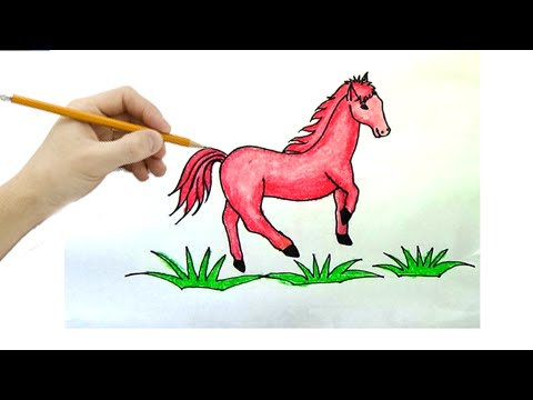 Vẽ Tranh Con Ngựa - How To Draw The Horse