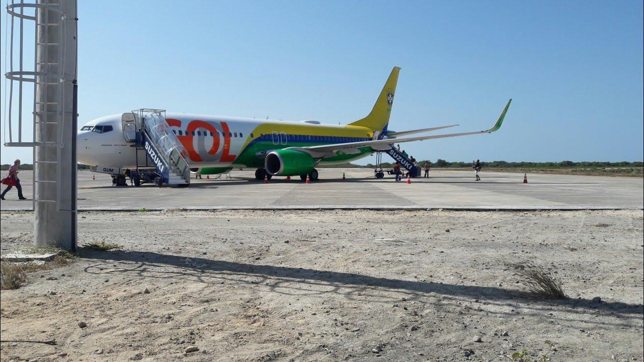 Aeroporto Jericoacoara : Avião no aeroporto regional de jericoacoara youtube