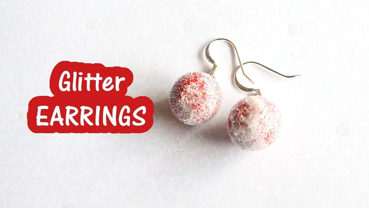 Glitter Bauble Earrings Christmas DIY Crafts VLOGMAS DAY 13