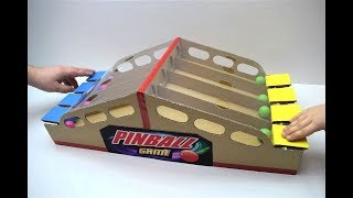 How to make Pinball game from cardboard Board Game Pinball for two players