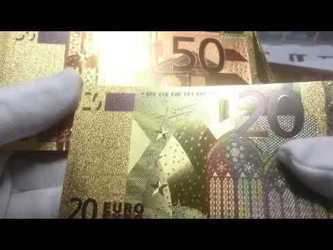 Сувенирные евро в позолоте!