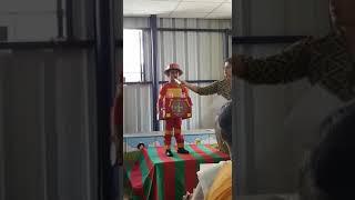 Swayam as a fireman fancy dress competition
