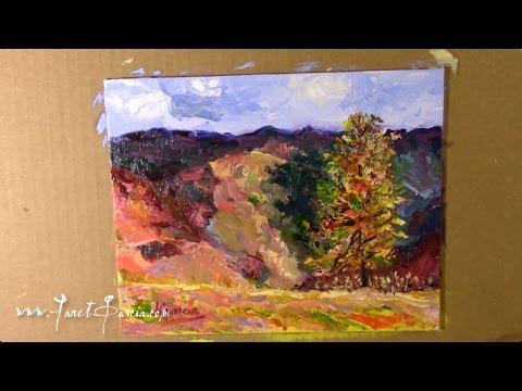 Loose Impressionist Landscape 1 Oil painting by artist Janet Garcia