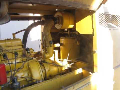 Leroi Gas Powered Rotary Screw Air Compressor Trailer