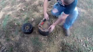 Replacing air bag on semi trailer