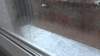 видео Шум козырька во время дождя, после монтажа м/п балкона