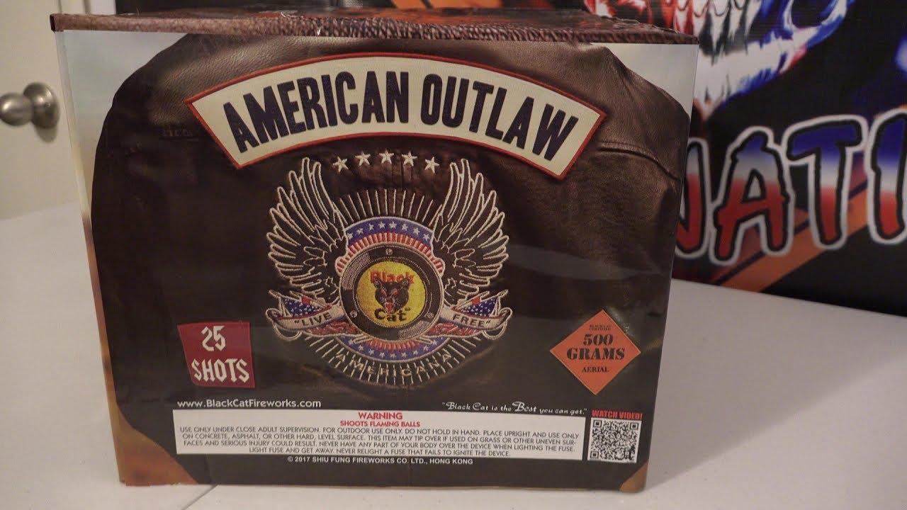 AMERICAN OUTLAW - 500G CAKE - BLACKCAT FIREWORKS