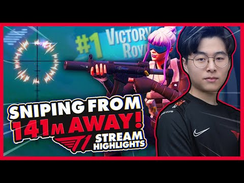 Envy Nails An Elimination From 141M Away! | T1 Fortnite Stream Highlights