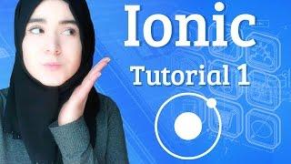 [Teil 1] Ionic Framework - Tutorial N°01 | wie erstellen der ersten app-Ionischen (Basic)
