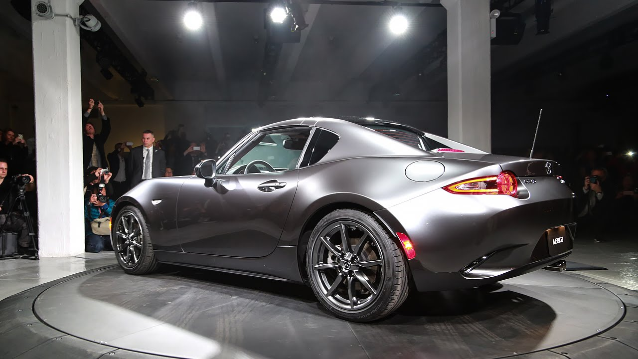 mazda's new mx-5 rf is a gorgeous hardtop miata - youtube