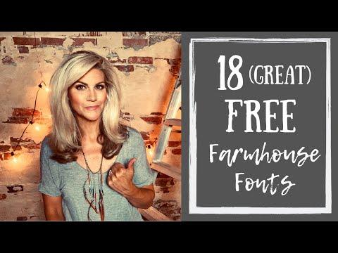 18 Favorite Farmhouse Fonts - YouTube