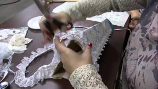 Madeira e Tecido Adesivado por Marisa Magalhães