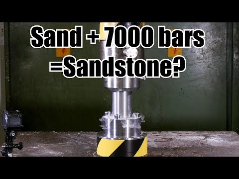 Making Sandstone from Sand with Hydraulic Press