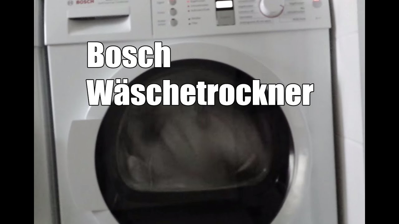 Bosch trockner wtw wärmepumpentrockner test youtube