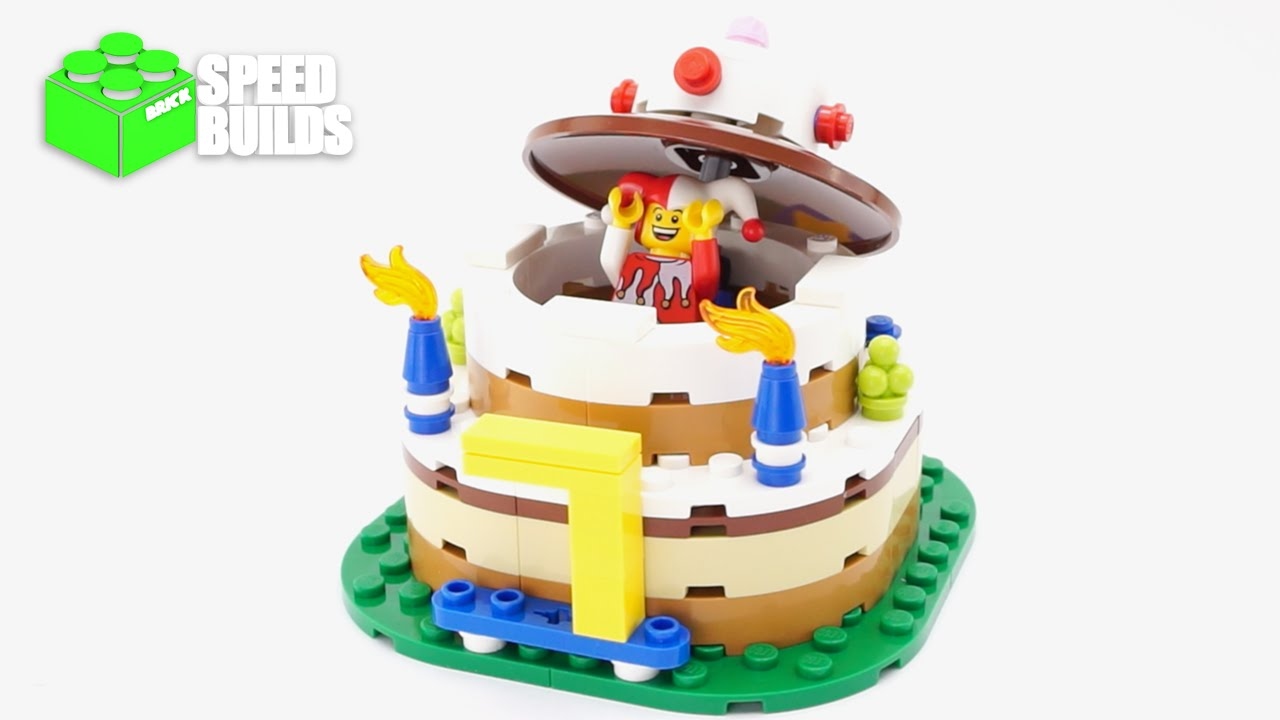 Lego Birthday Cake Table Decoration Set 40153 120 Pieces