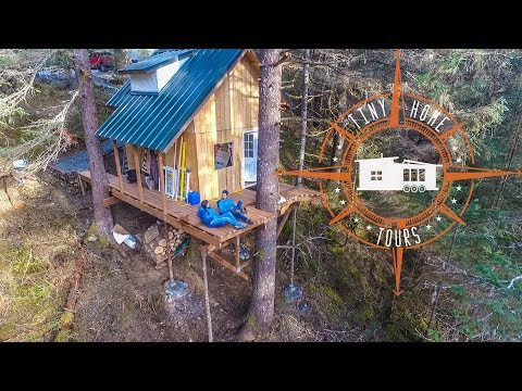 Off The Grid Alaskan Tiny House In A Tree ~ Land & Building For $35k