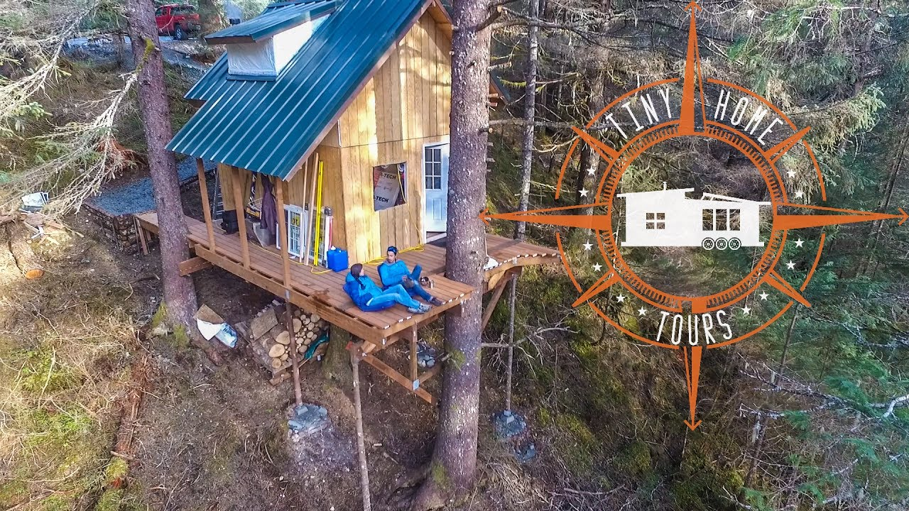 Off The Grid Alaskan Tiny House In A Treehouse Land