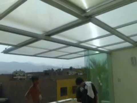 Techo De Policarbonato En Estructura De Aluminio 2 2 Youtube