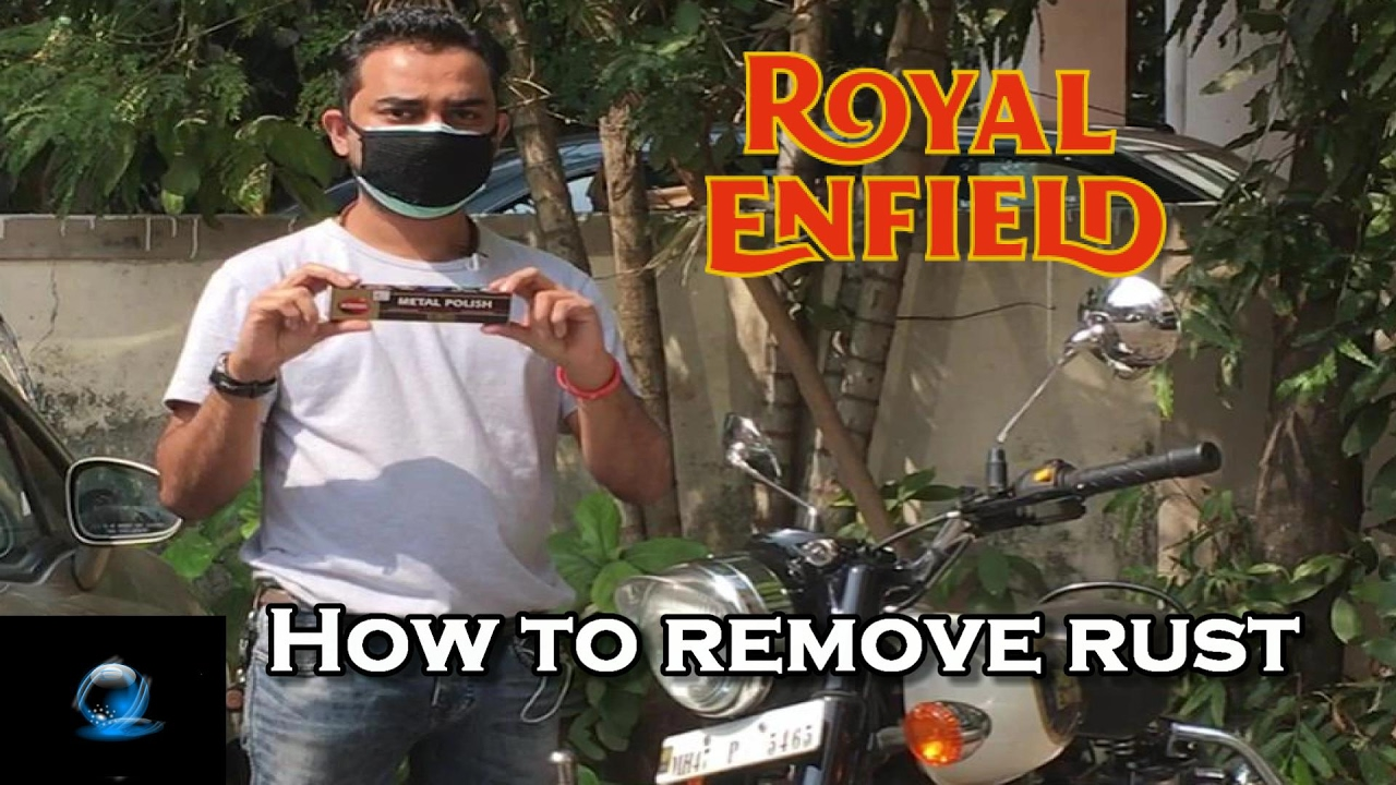 how to remove rust from your royal enfield autosol chrome polish bullet youtube. Black Bedroom Furniture Sets. Home Design Ideas
