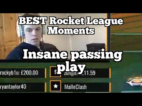 BEST Rocket League Moments: Insane passing play