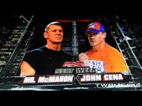 WWE Monday Night Raw 3/8/10 Match Cards - YouTube