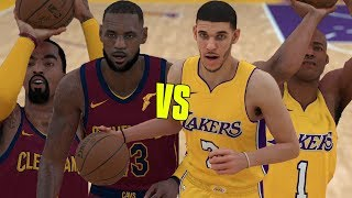 Lonzo Ball & LaVar Ball vs Lebron James & J.R. Smith! | NBA 2K18 Gameplay |