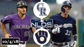 Colorado Rockies vs Milwaukee Brewers Highlights || NLDS Game 1 || October 4, 2018