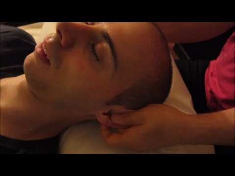 Chinese head ears and neck massage, relaxing ASMR tingles