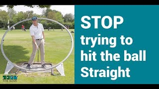 STOP trying to hit the golf ball straight