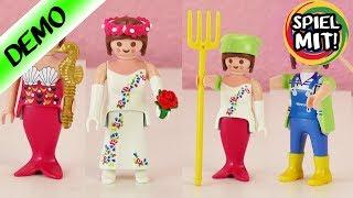Playmobil Meerjungfrau + Braut + Bäuerin 3 in 1 | Figuren auseinander nehmen | Spiel mit mir
