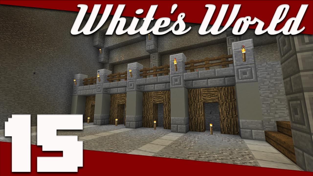 Minecraft: White's World - 015 - 1.12 Blocks and Mine Design! | Minecraft 1.12 Survival ...