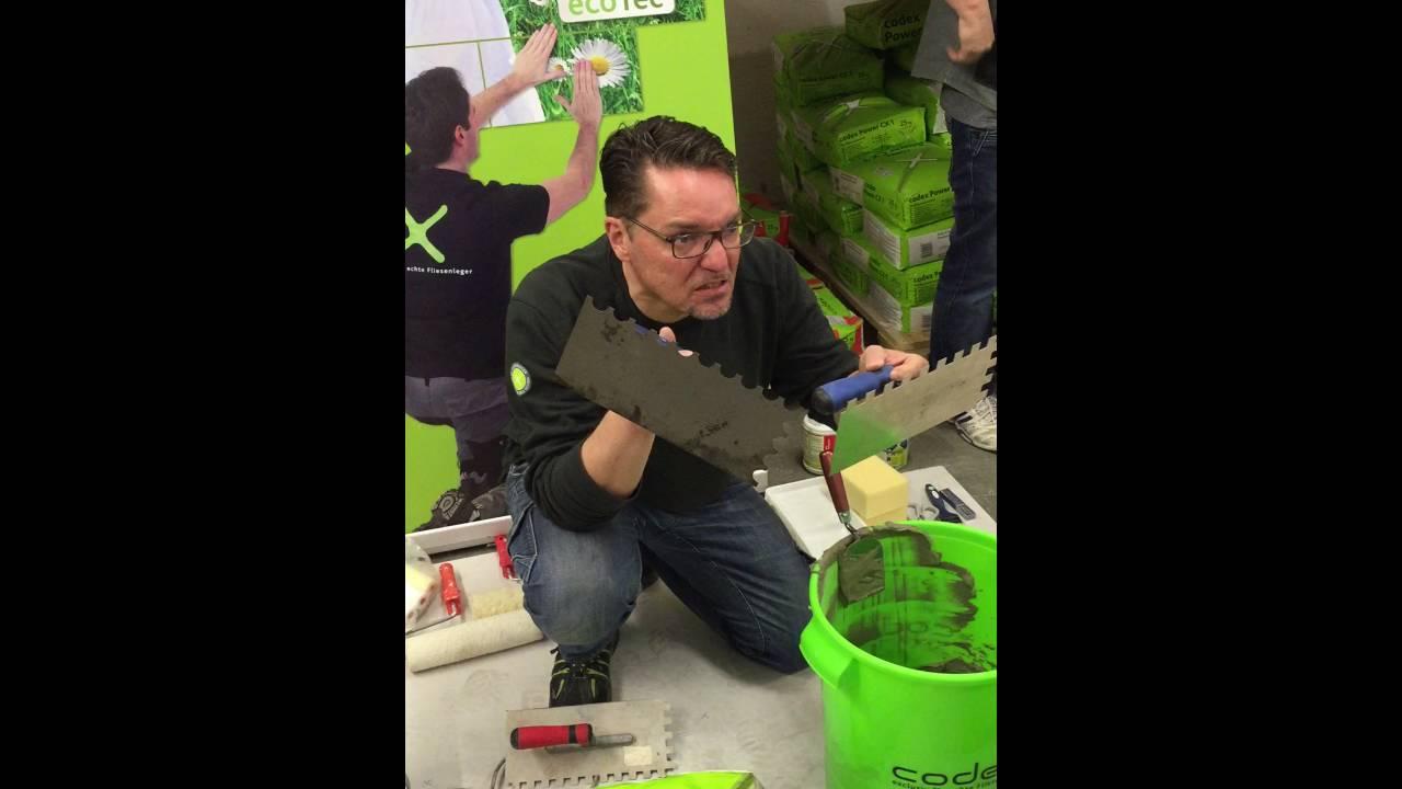 Berühmt Abdichtung richtige Zahnung bei großformatigen Fliesen - YouTube JJ66