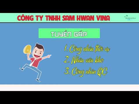 Công Ty TNHH Sam Hwan Vina Tuyển Công Nhân Và Nhân Viên Kho Làm Việc Tại Đồng Nai