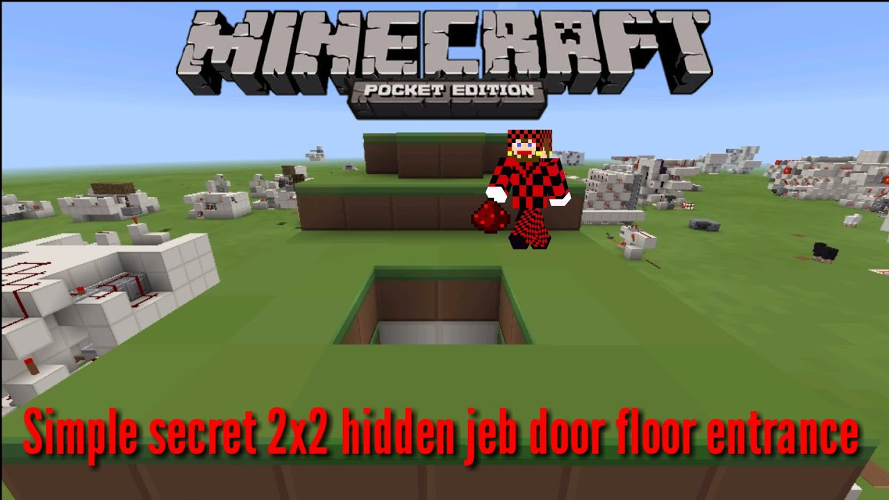 Secret [jeb door] floor entrance Minecraft pocket edition  sc 1 st  Garden Gallery Image and Wallpaper & Minecraft Jeb Door - Garden View Landscape