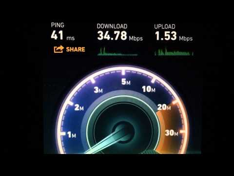 Speed test True Hi-Speed cable internet 15mb