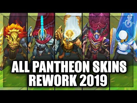 All Pantheon Skins Rework 2019 (League of Legends)