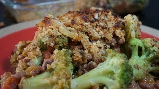 Broccoli Crumble Bake - Easy Baked Broccoli - Spicy Oven Broccoli Cheese bake - Vegetarian Recipes
