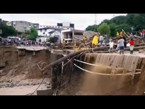 Search for survivors from Colombia mudslide