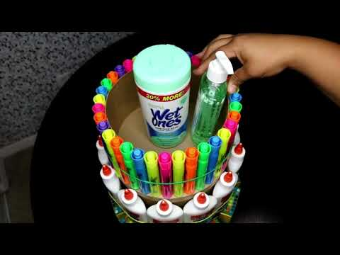 How To Make A School Supply Cake Tower   2018   YouTube