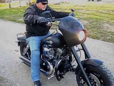2009 Black Matt Harley Davidson Dyna FXDF with Fairing