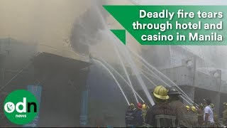 Deadly fire tears through hotel and casino in Manila