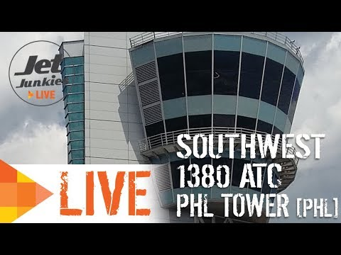 LIVE ATC Southwest 1380 WITH PHILADELPHIA   Jet Junkies