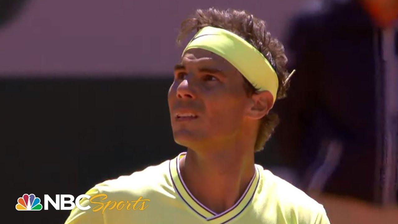 2019 French Open Rafael Nadal Vs Roger Federer Extended Highlights Nbc Sports Youtube
