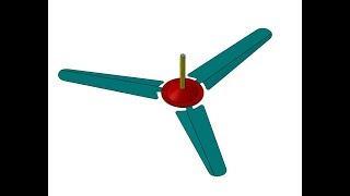 Ceiling Fan design and assembly SolidWorks Tutorial
