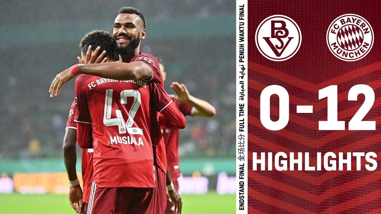 Download 12 goals by Choupo-Moting, Musiala &. Co.   Highlights Bremer SV vs. FC Bayern 0-12   DFB-Pokal