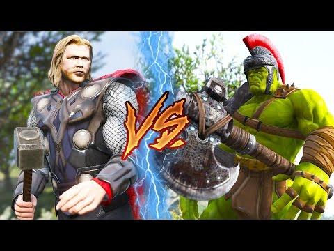 【將將】雷神 VS 浩克| 雷神索爾3:諸神黃昏 Thor: Ragnarok (GTA5 MODS)