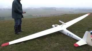 Flight Of 1/3 Scale K6 Model Glider