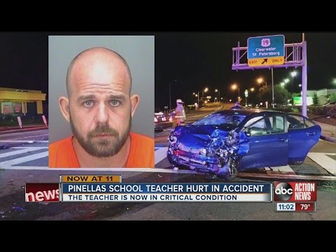 Pinellas Co. music teacher in critical condition after car crash
